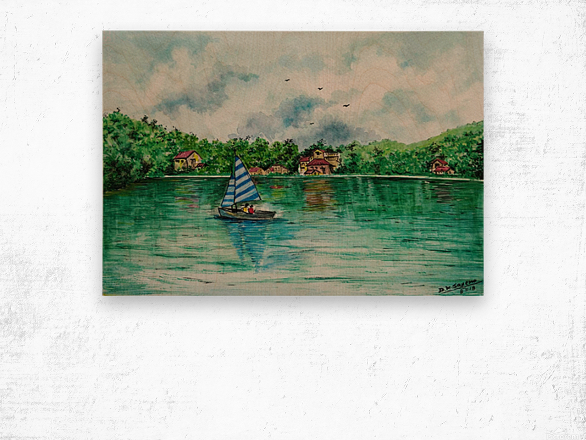 Naini lake_DKS Wood print