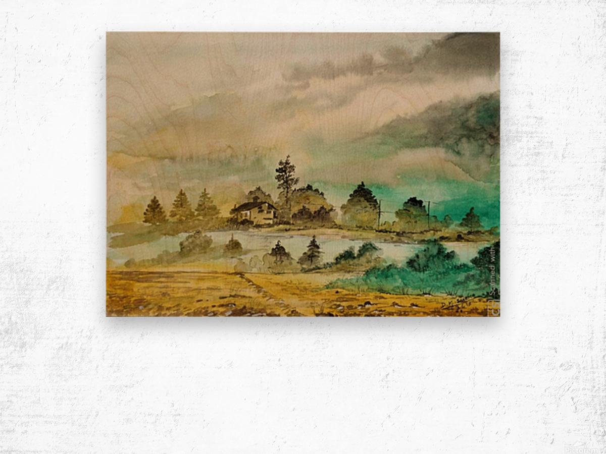 Village_DKS Wood print