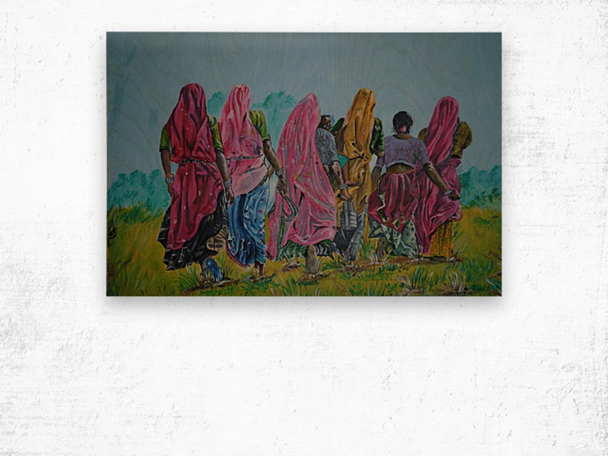 Village Women_DKS Impression sur bois