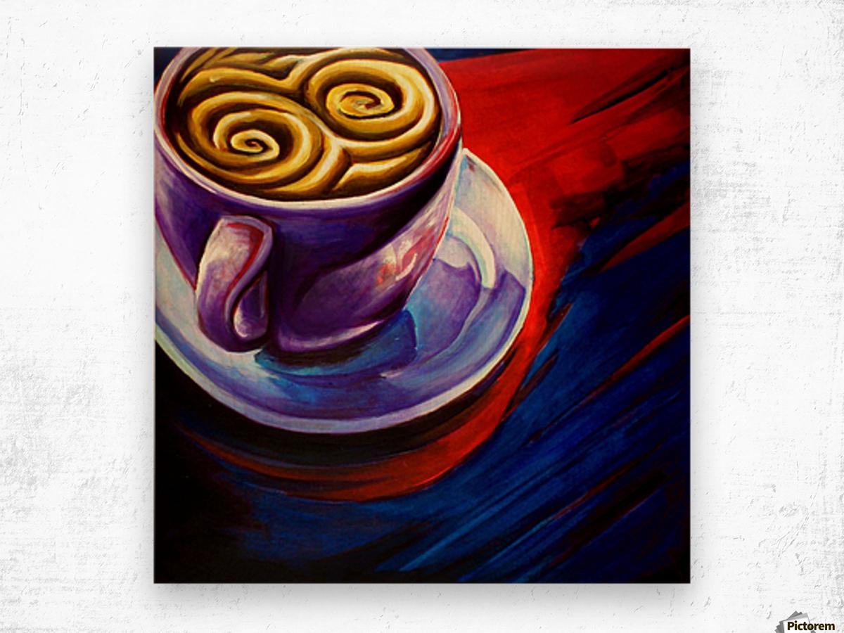 Coffee Impression sur bois