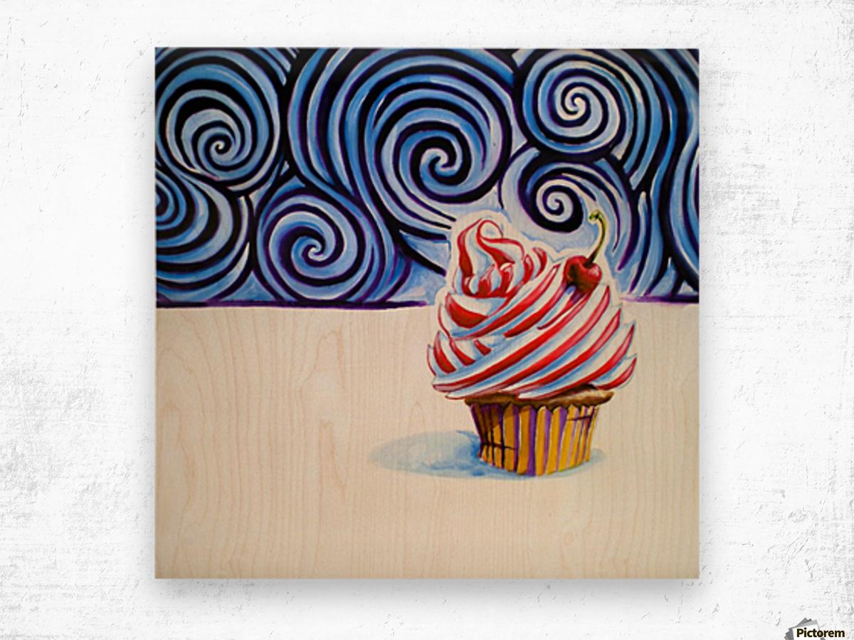 Cupcake Impression sur bois