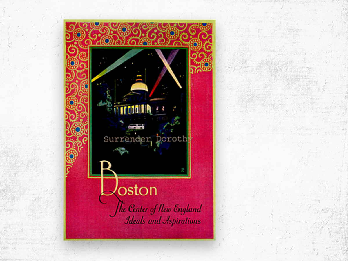Boston USAEdited Wood print