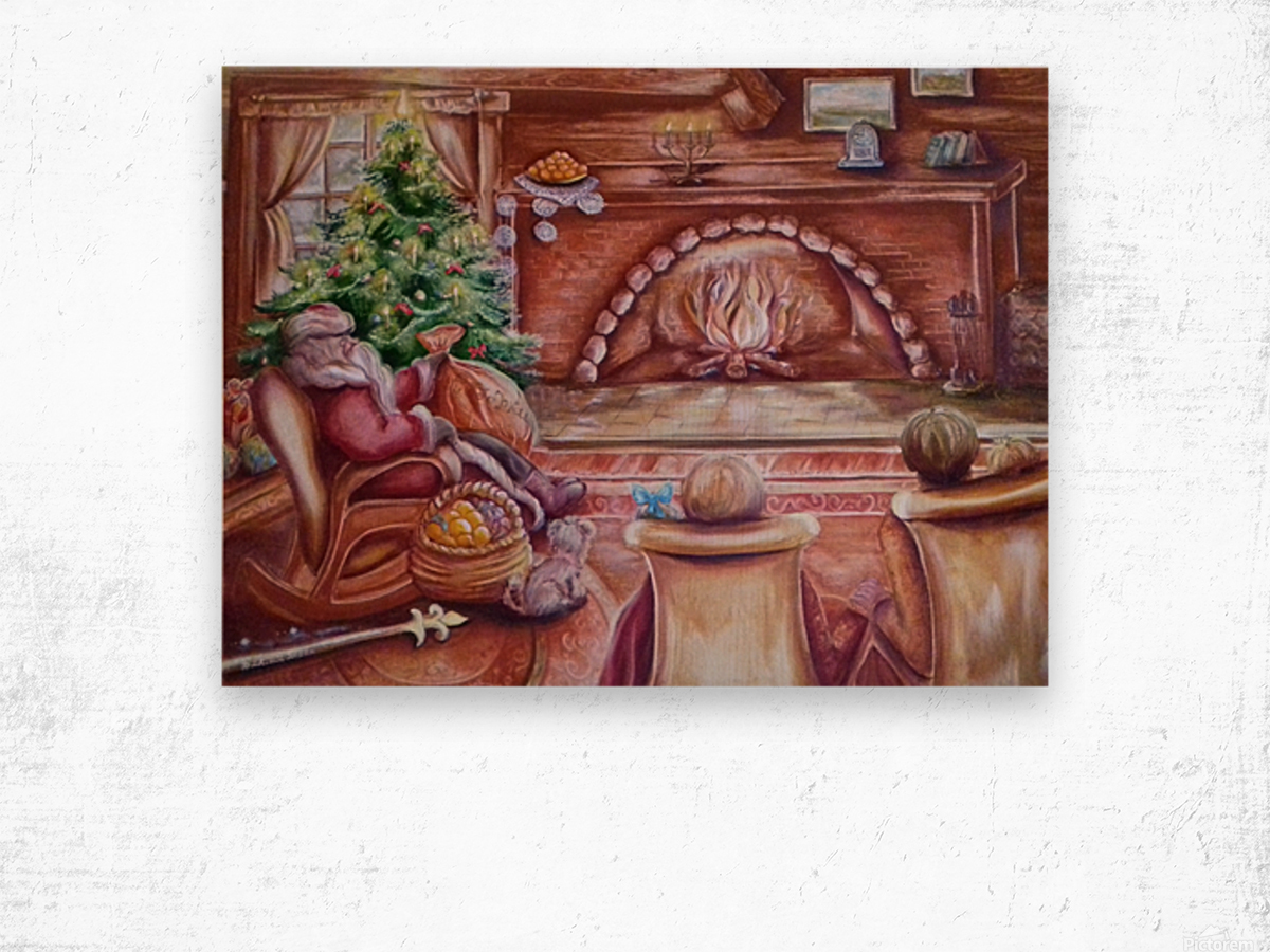 Santa Claus. Christmas and New year Wood print