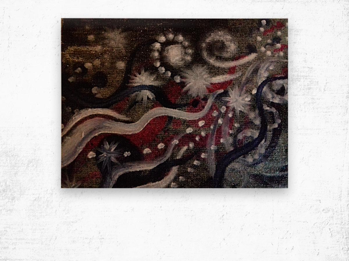 Shungite.Epiphany3.  Wood print