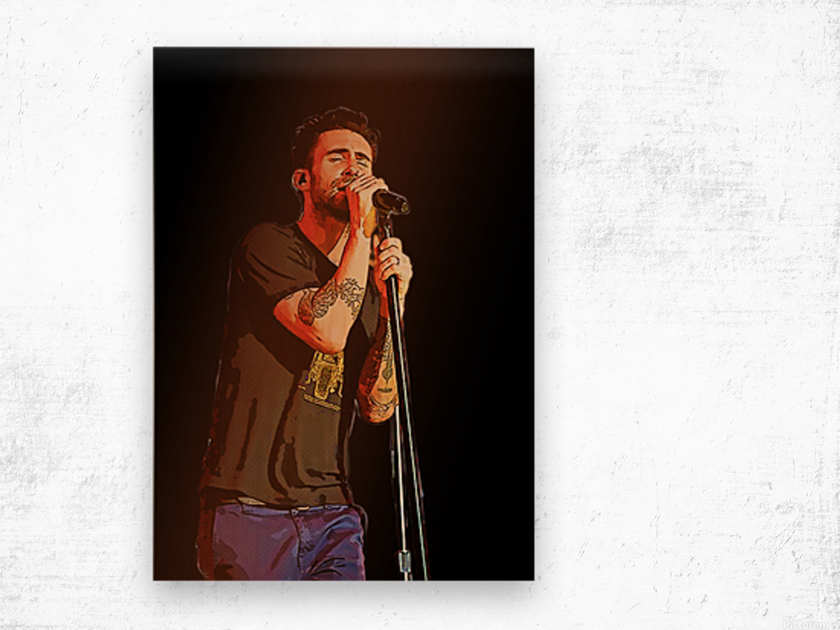 Adam Levine and Maroon 5 performed at The Forum in Inglewood Calif    Wood print