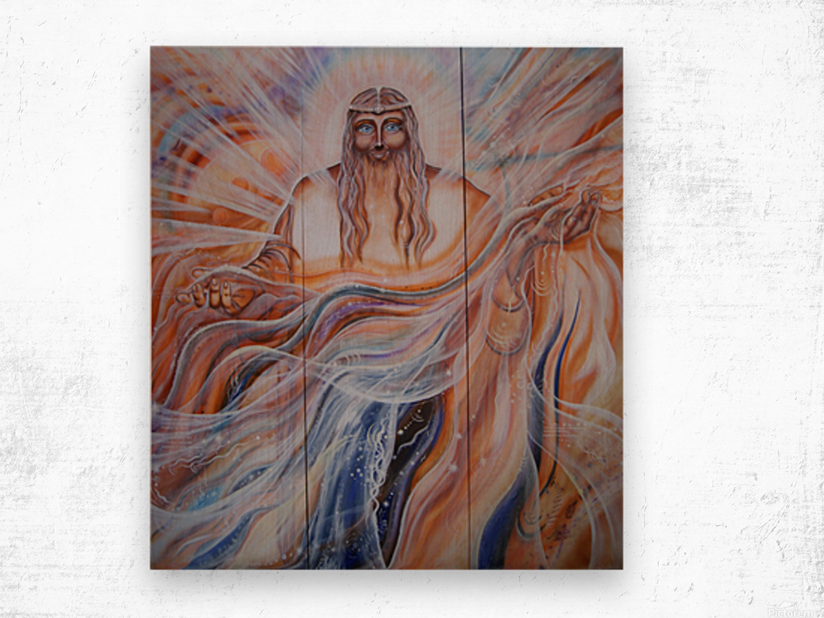 All-father Father of all.  Triptych Wood print