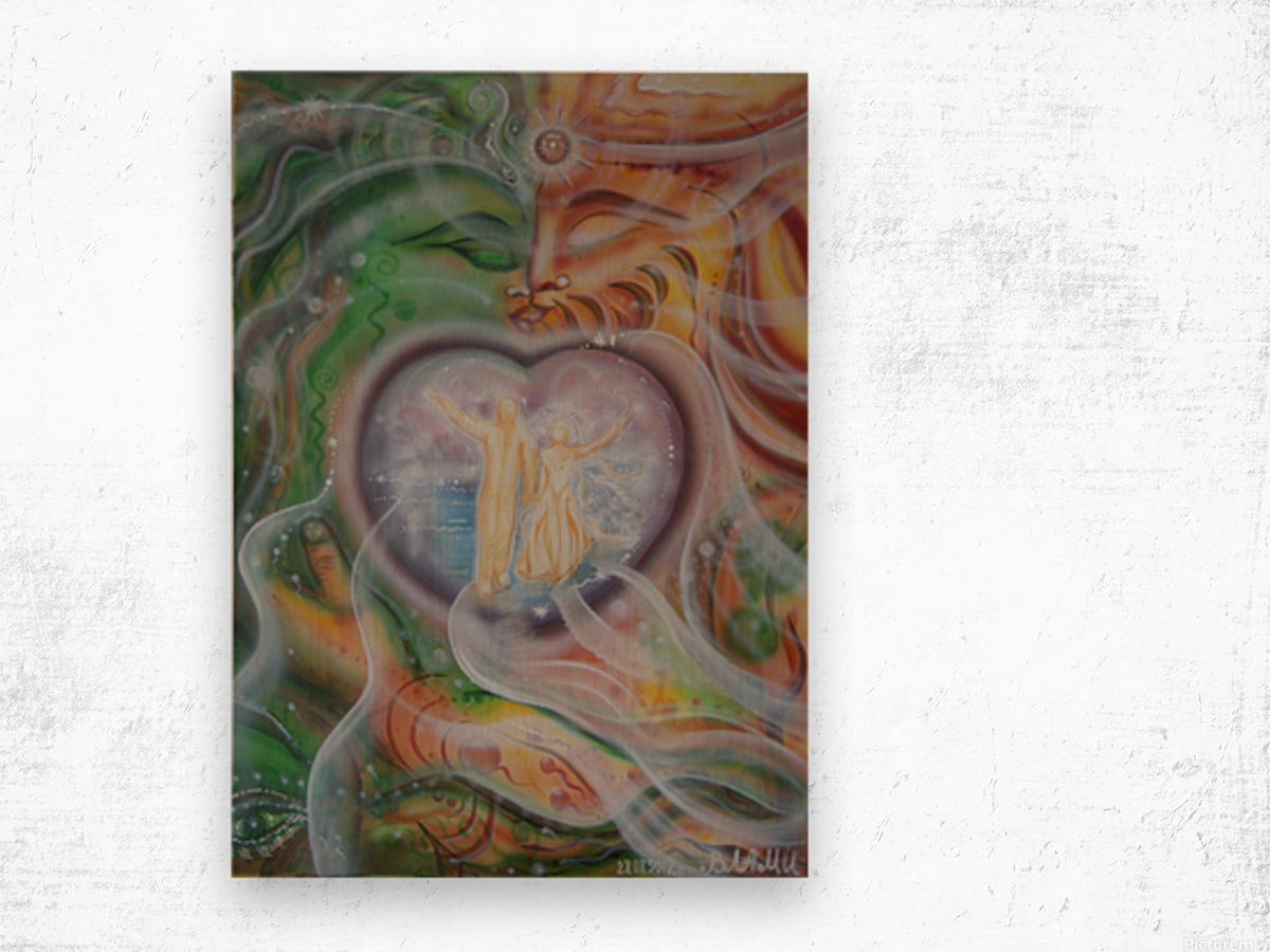 Amulet for love Wood print
