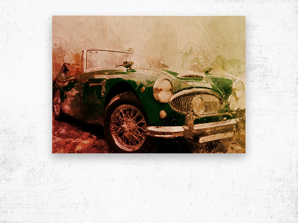 Car vintage Wood print