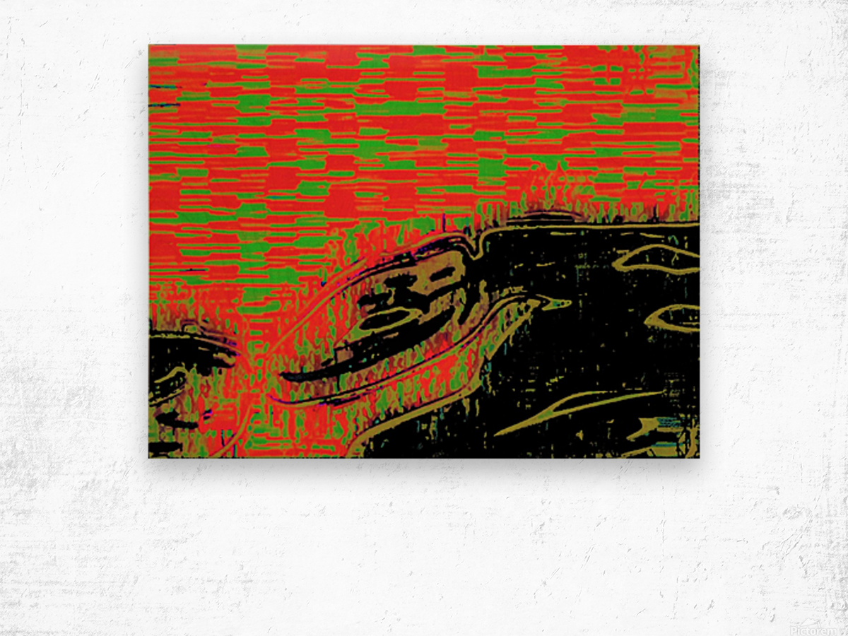 The Bull of his Mother Wood print