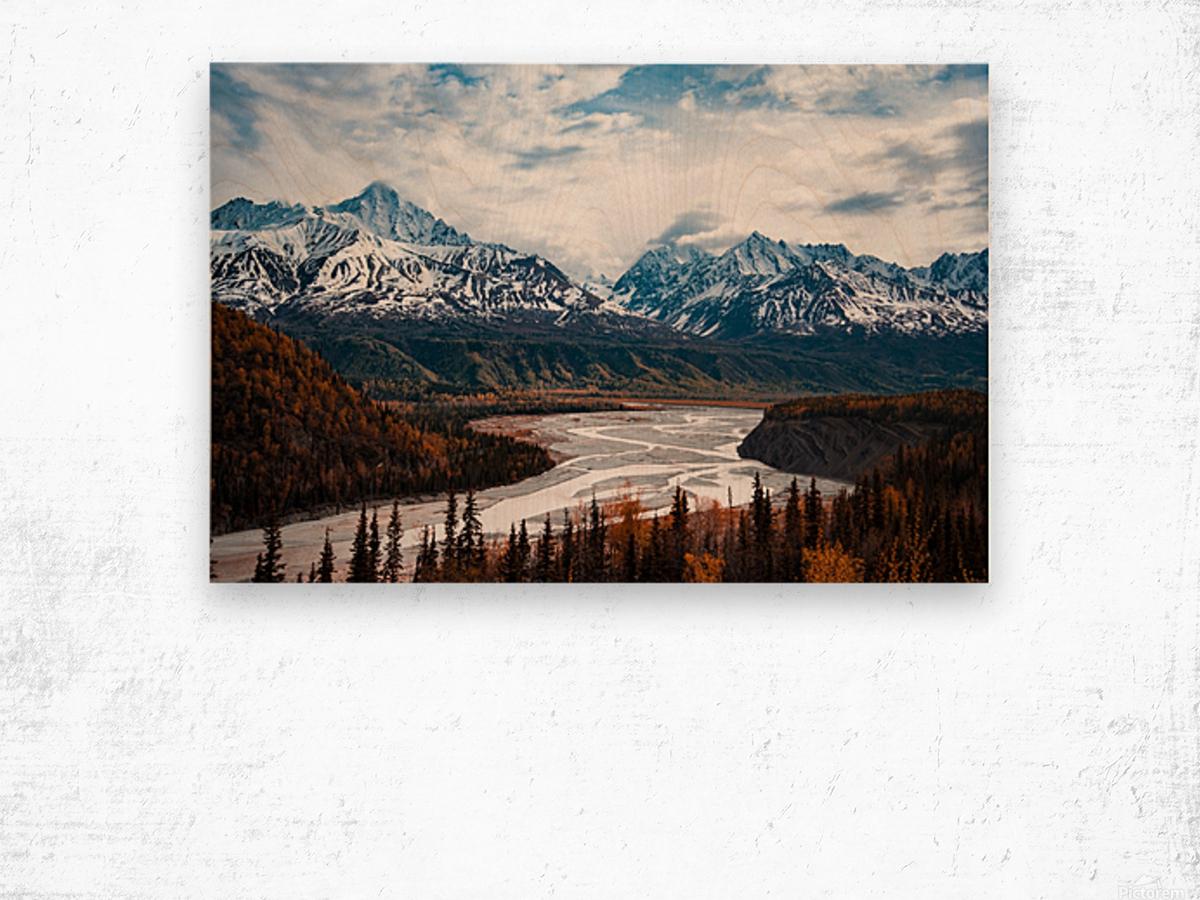 Autumn Landscape Impression sur bois
