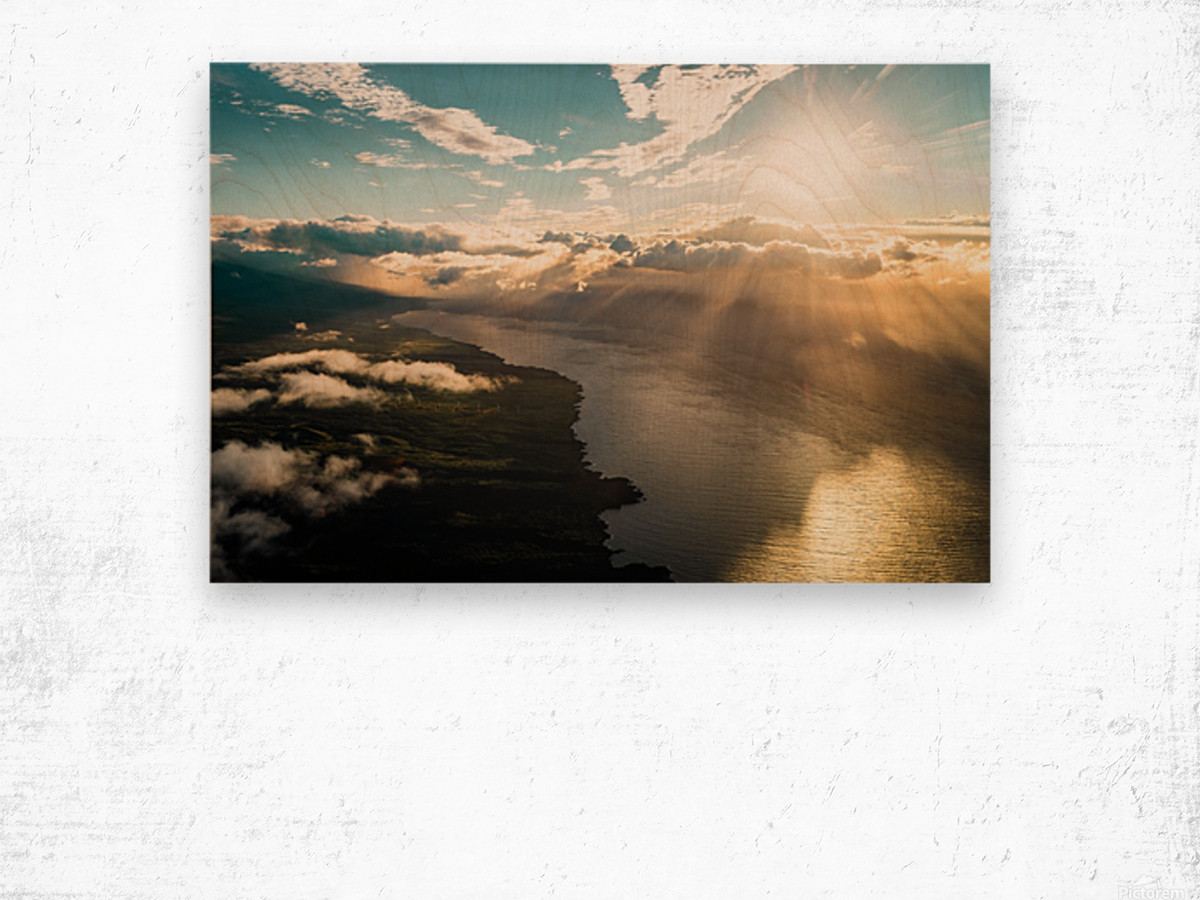 Maui From Above Wood print