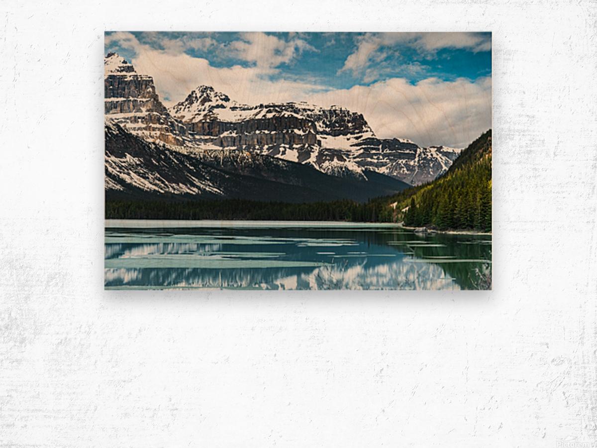 Winter Lake Wood print