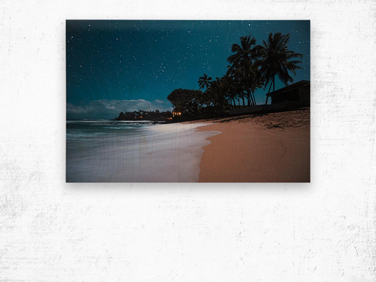 Tropical Night Wood print