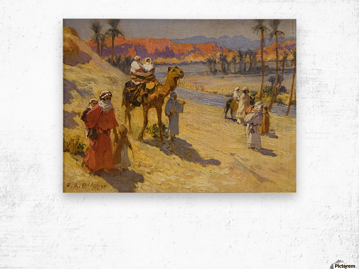 A walk through the dessert Wood print