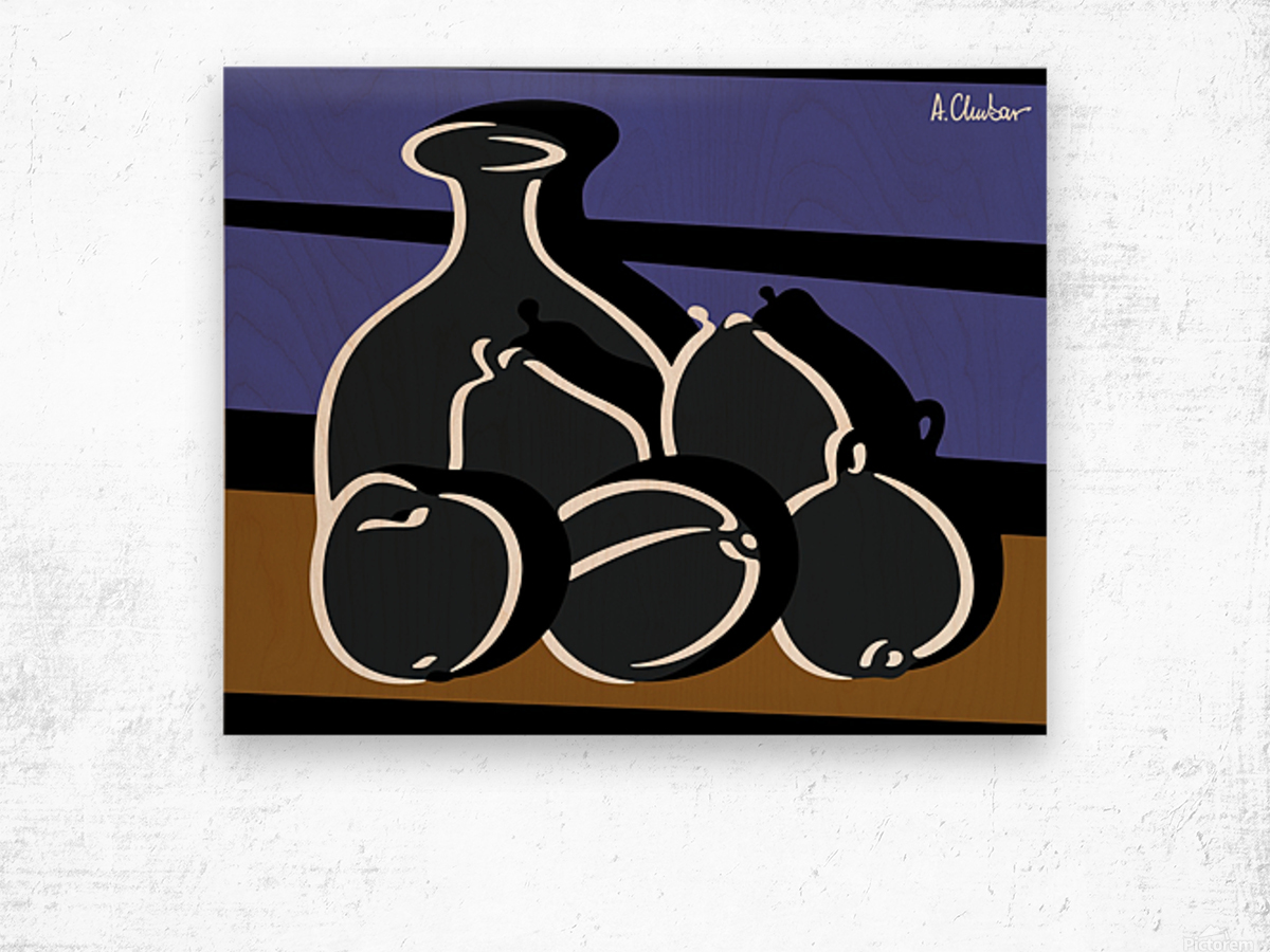 Still Life with a Vase Wood print