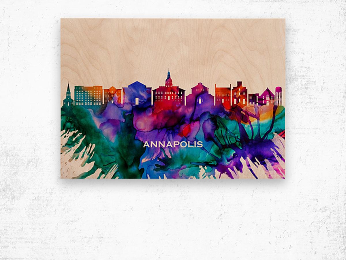 Annapolis Skyline Wood print