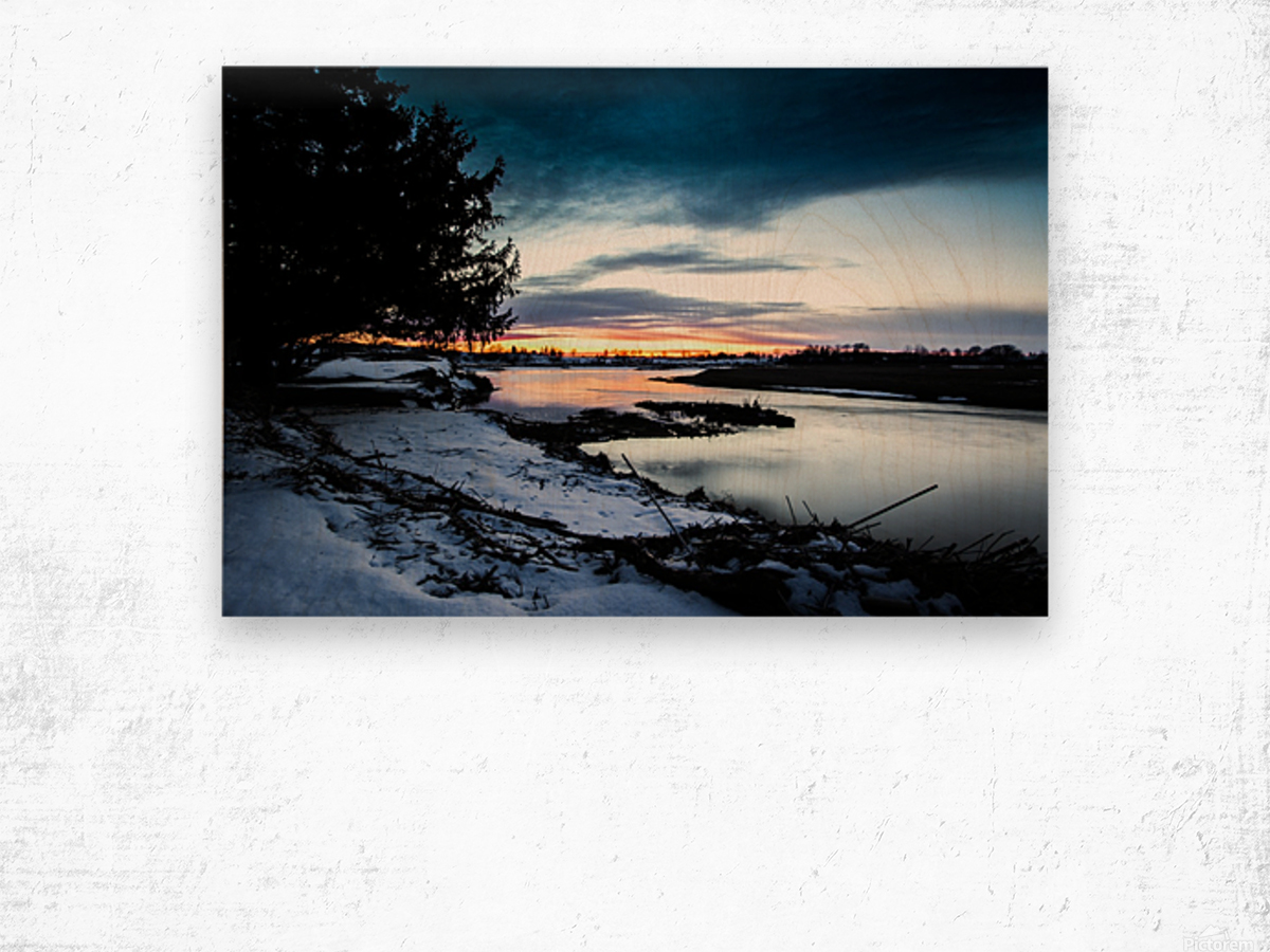 The Nith - Post Sunset Wood print