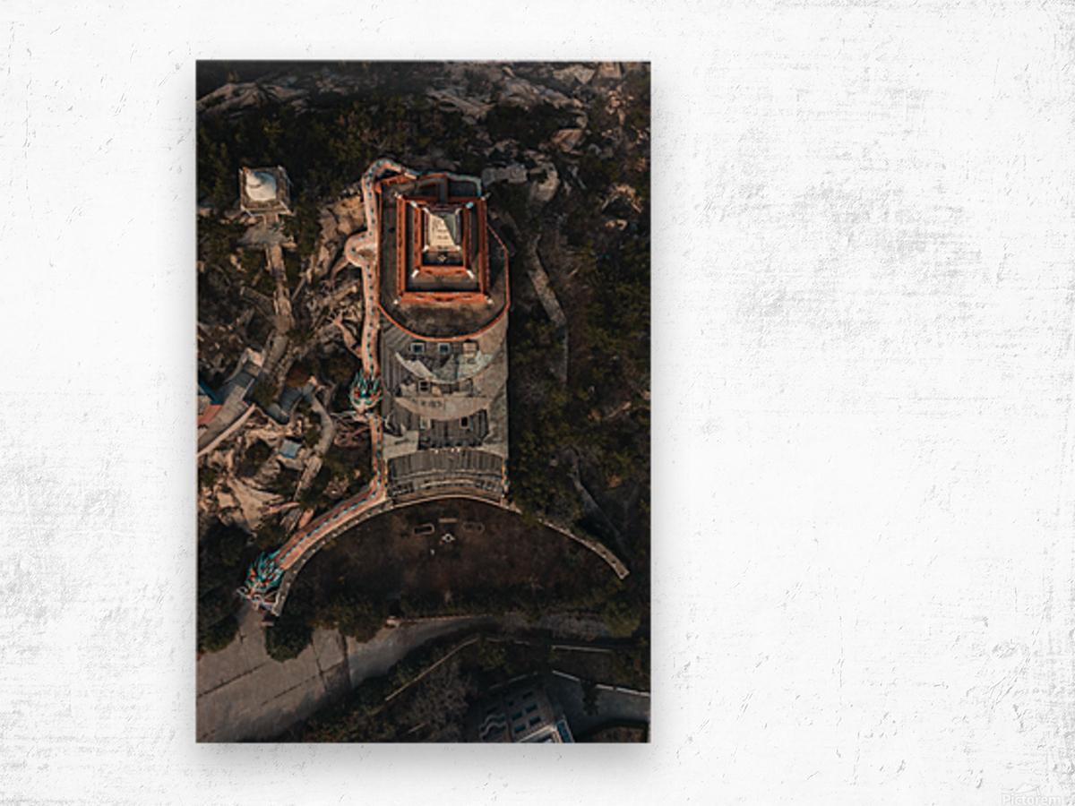 Abandoned Dragon Hotel Wood print