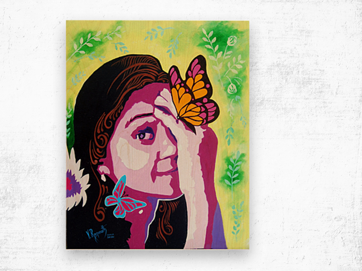 COLOURS OF A SMILE    Wood print