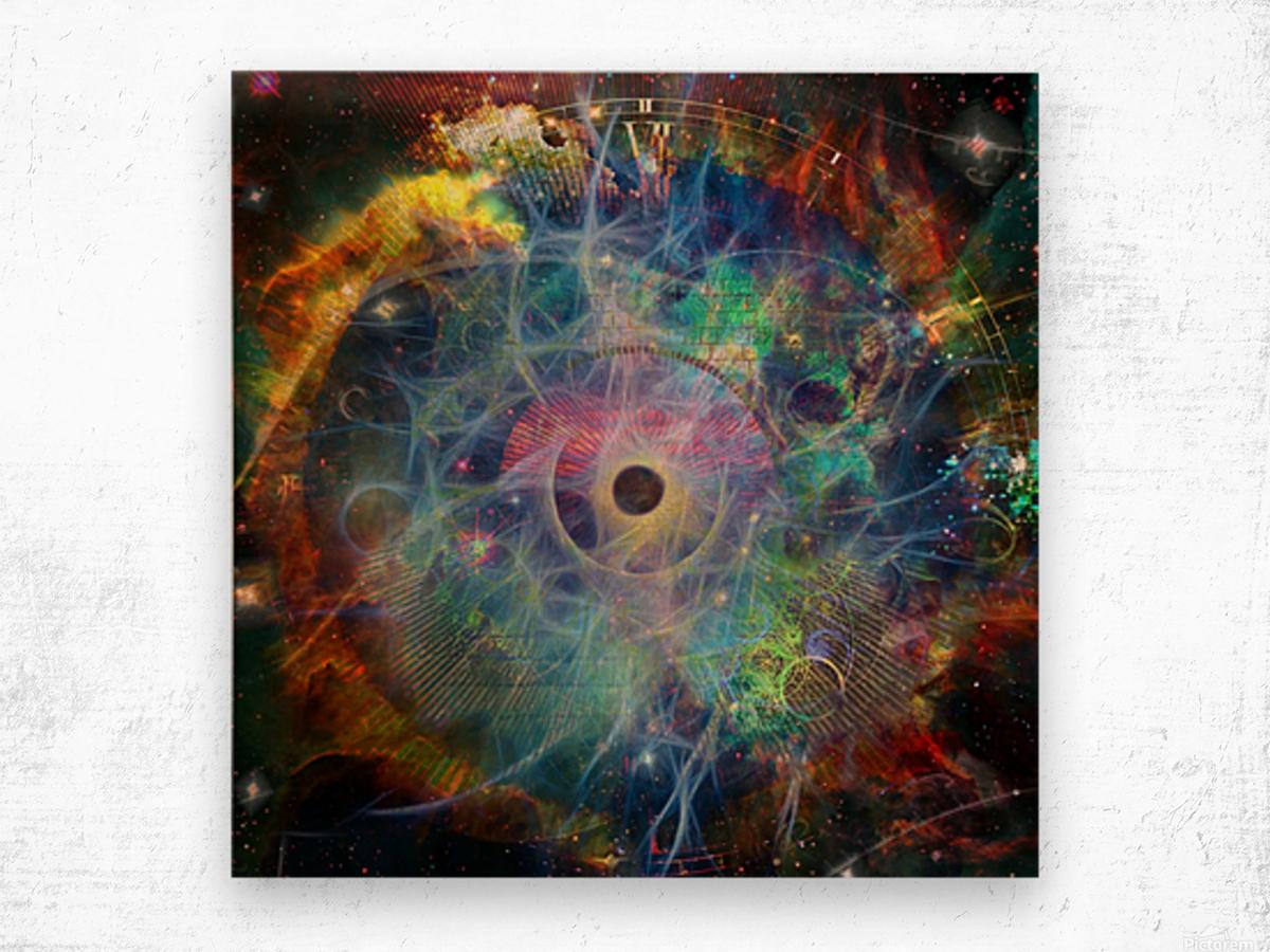 The Eye of Time Wood print