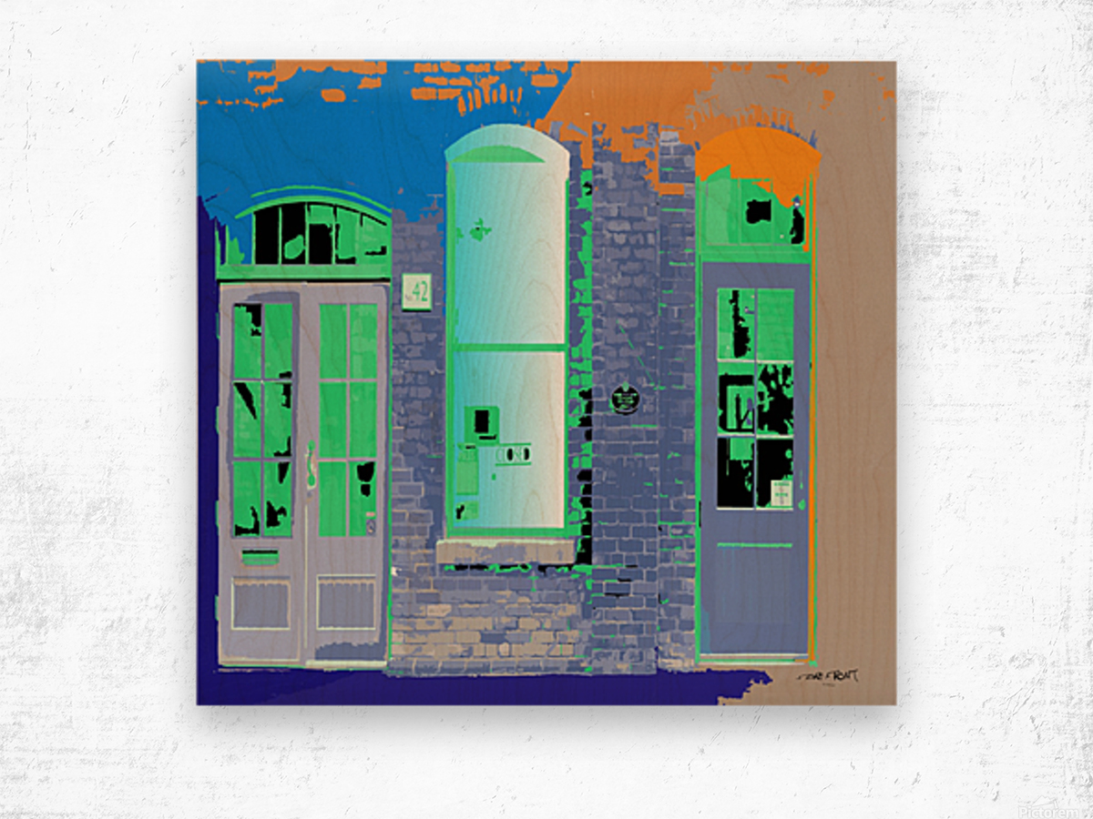 STORE FRONT by dePace Wood print