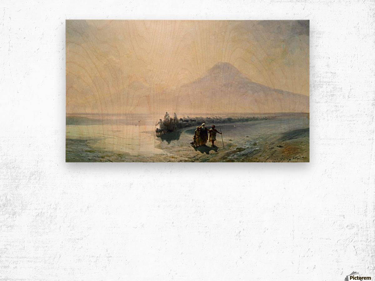 Dejection of Noah from mountain Ararat Wood print