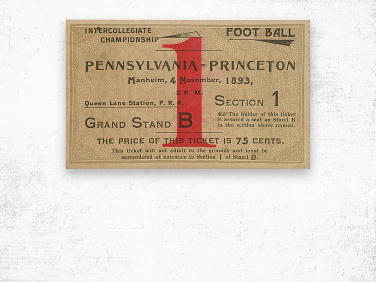 1893 Penn vs. Princeton Wood print