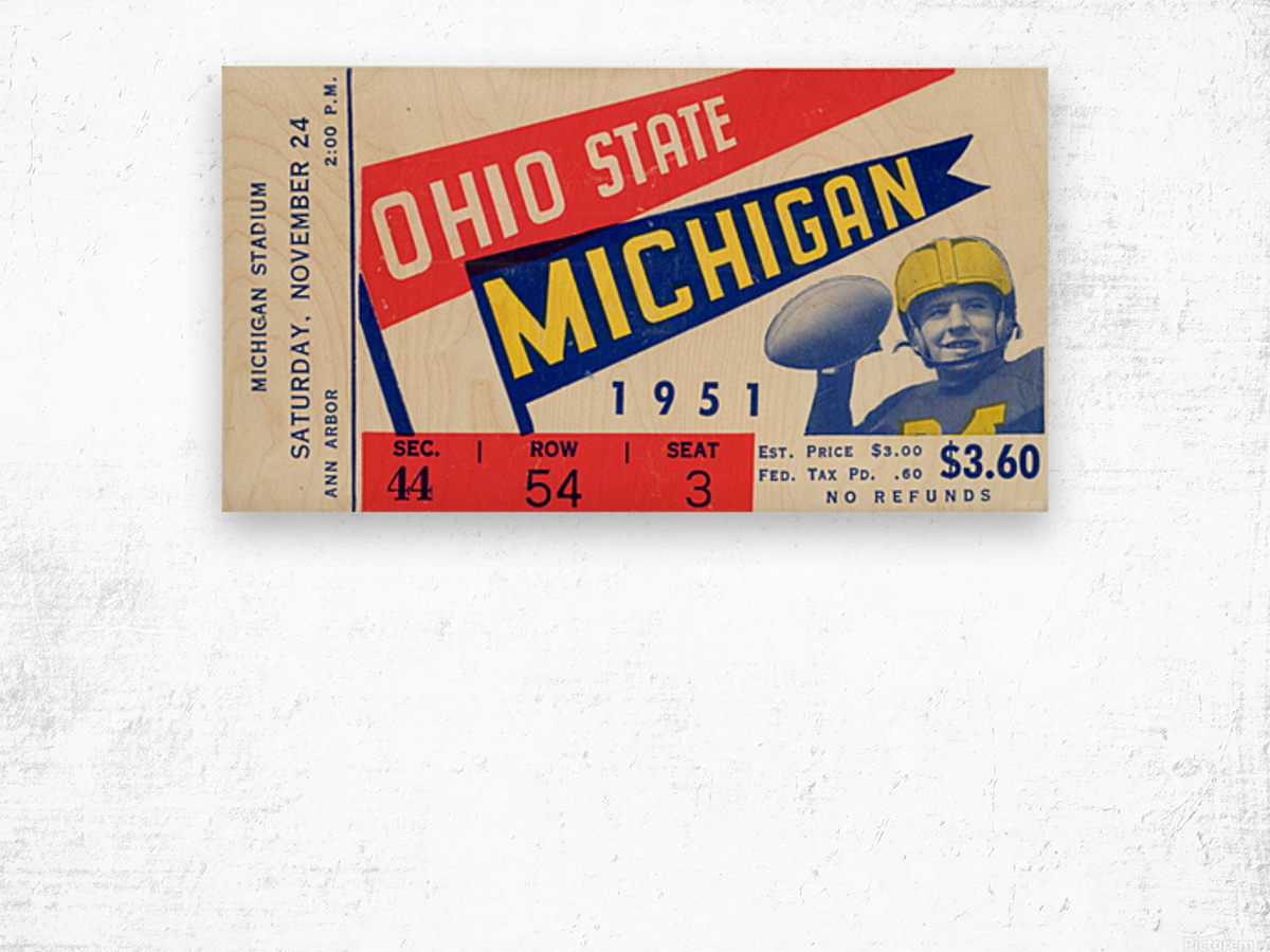 1951 Ohio State vs. Michigan Wood print