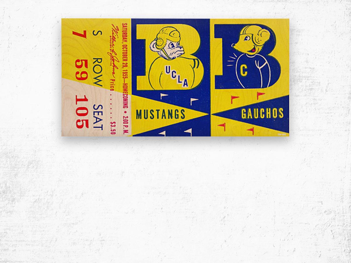 1955 UCLA  vs. Cal  Wood print