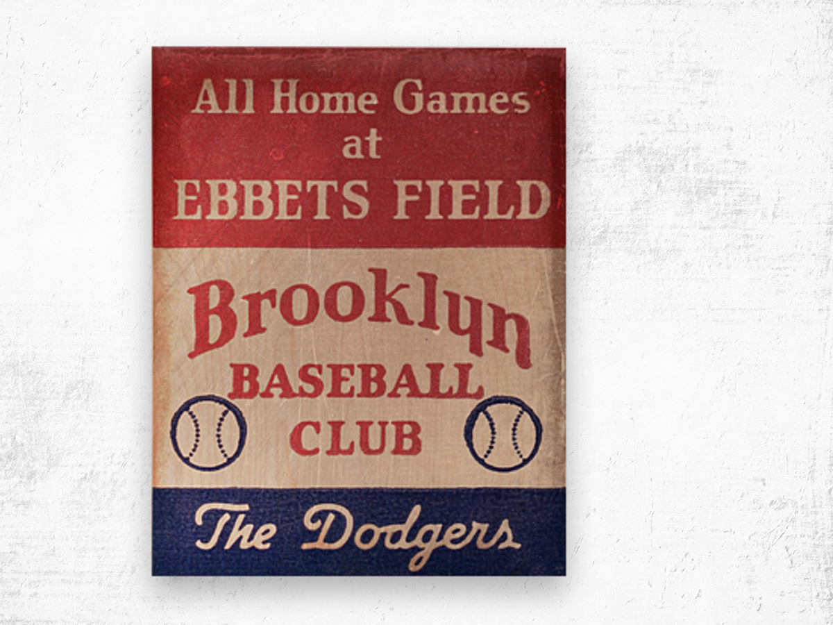 1939 Brooklyn Dodgers Wood print