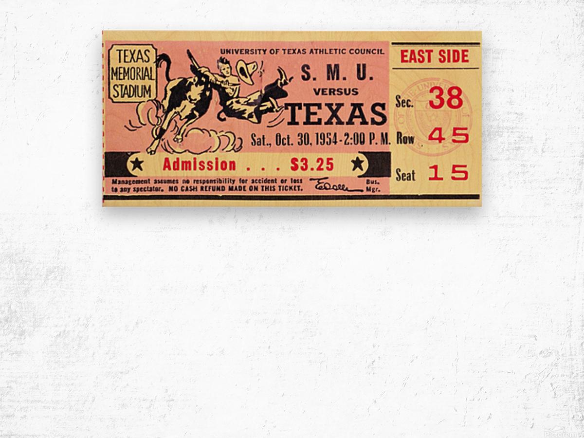 1954_College_Football_Texas vs. SMU_Texas Memorial Stadium_Austin_Row One Brand Wood print