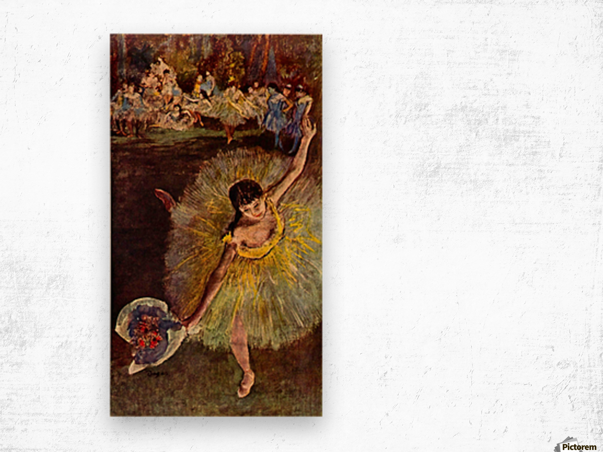 End of the arabesque by Degas Wood print