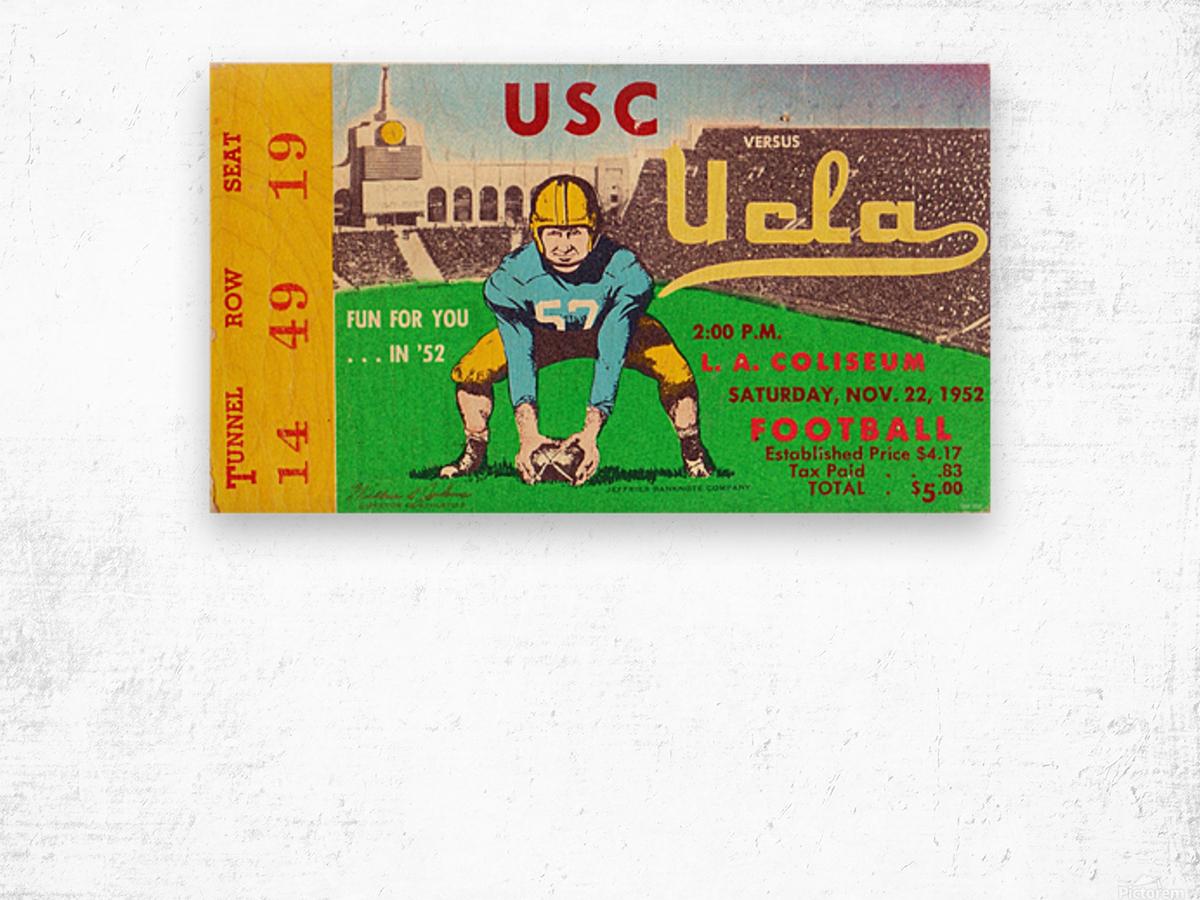 1952 USC vs. UCLA Wood print