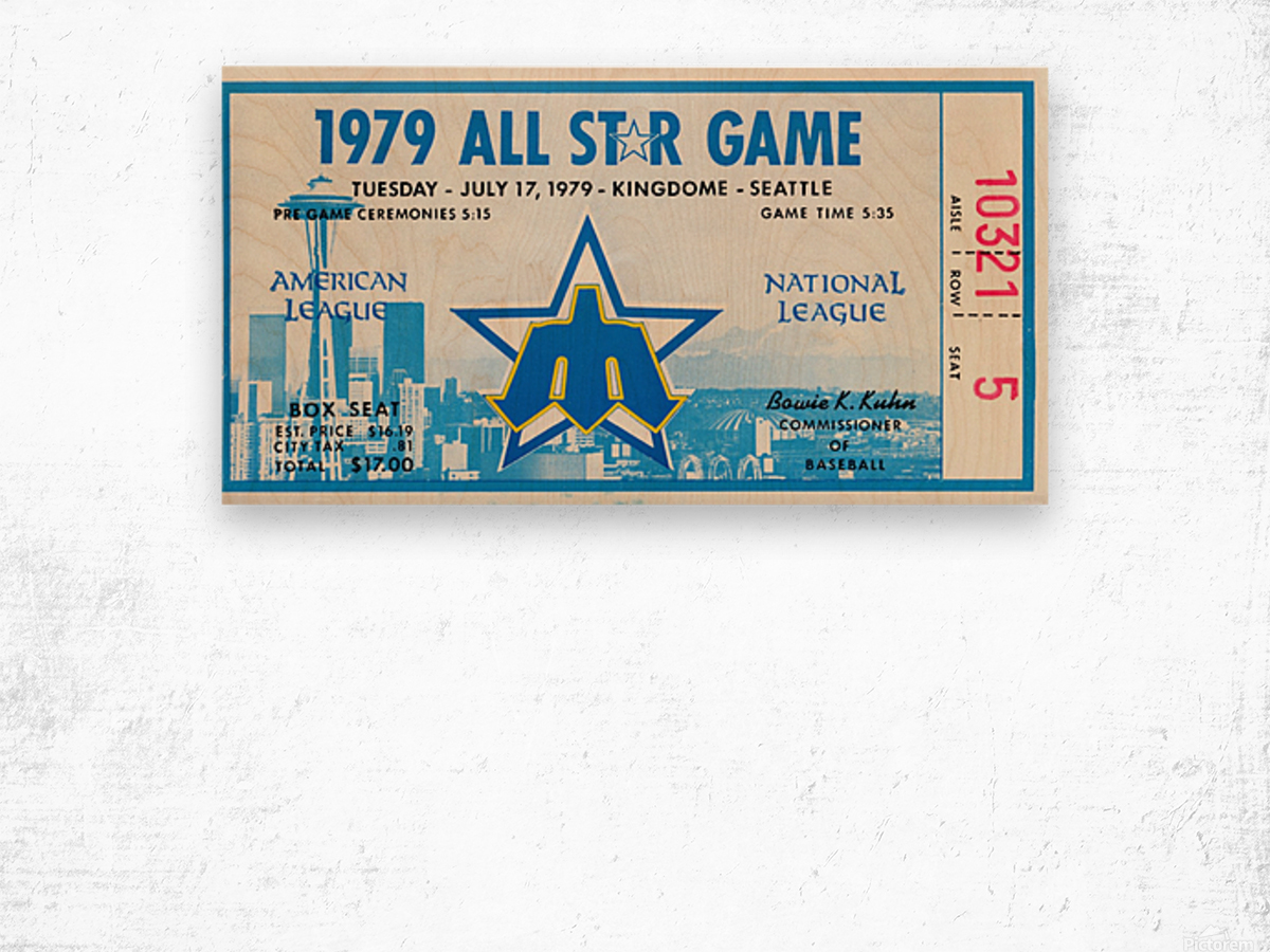 1979 Major League All-Star Game Seattle Wood print