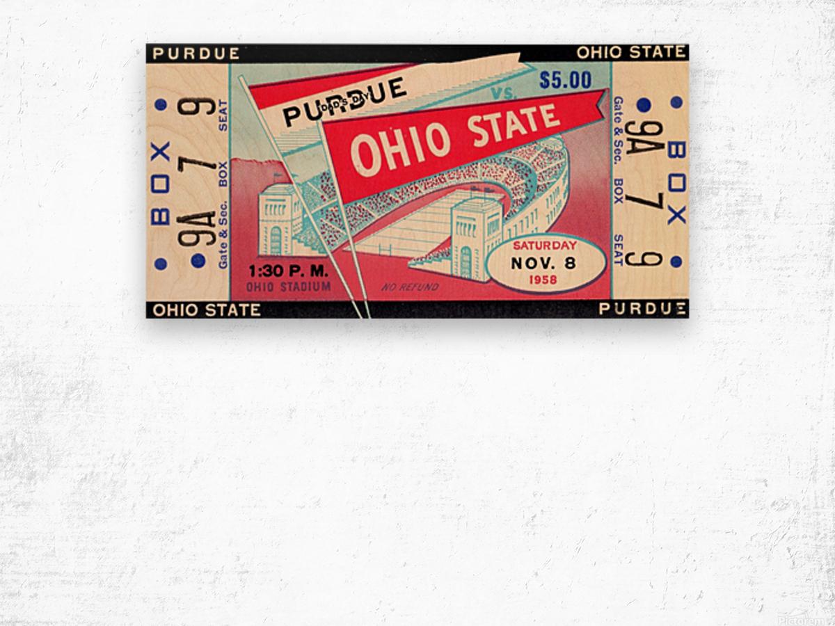 1958_College_Football_Purdue vs. Ohio State_Ohio Stadium_Row One Brand Wood print