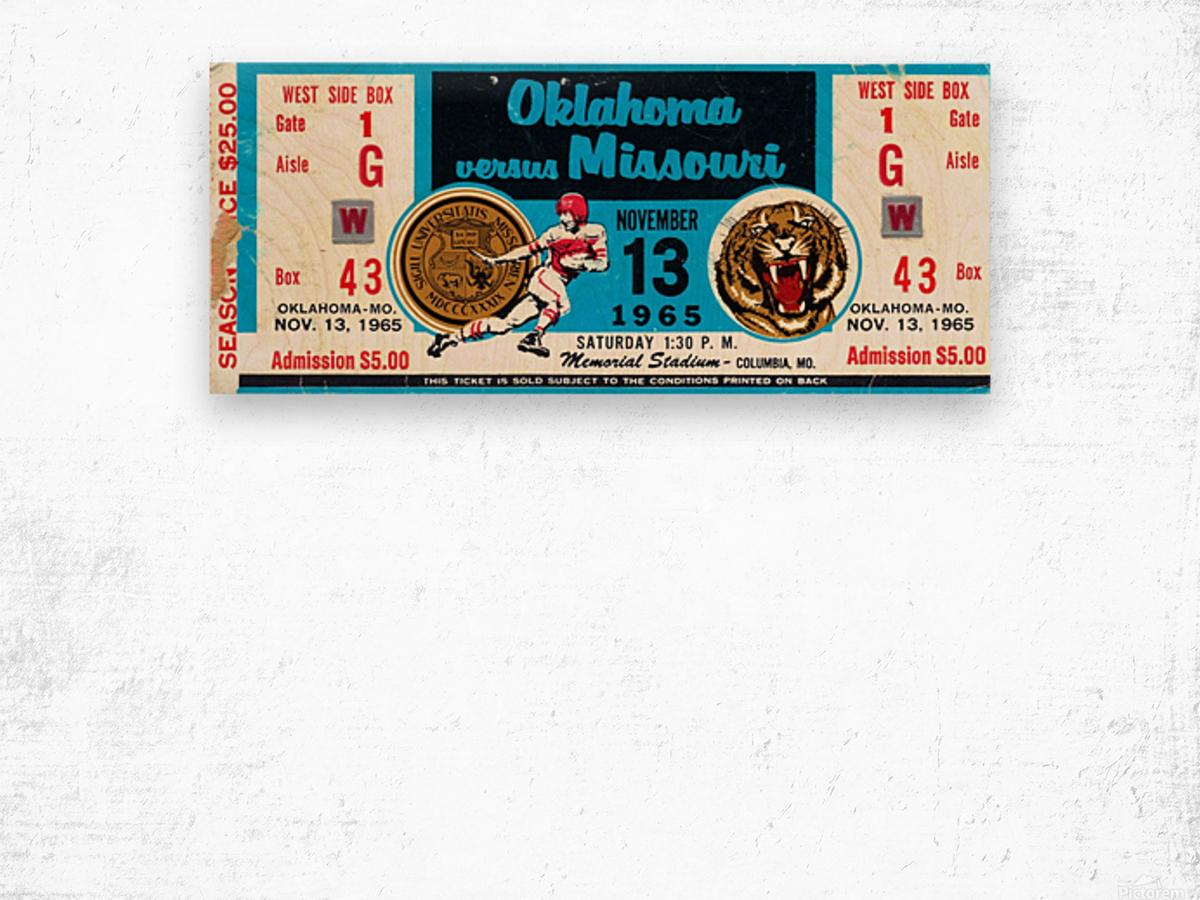 1965_College_Football_Oklahoma vs. Missouri_Memorial Stadium_Columbia_Row One Wood print