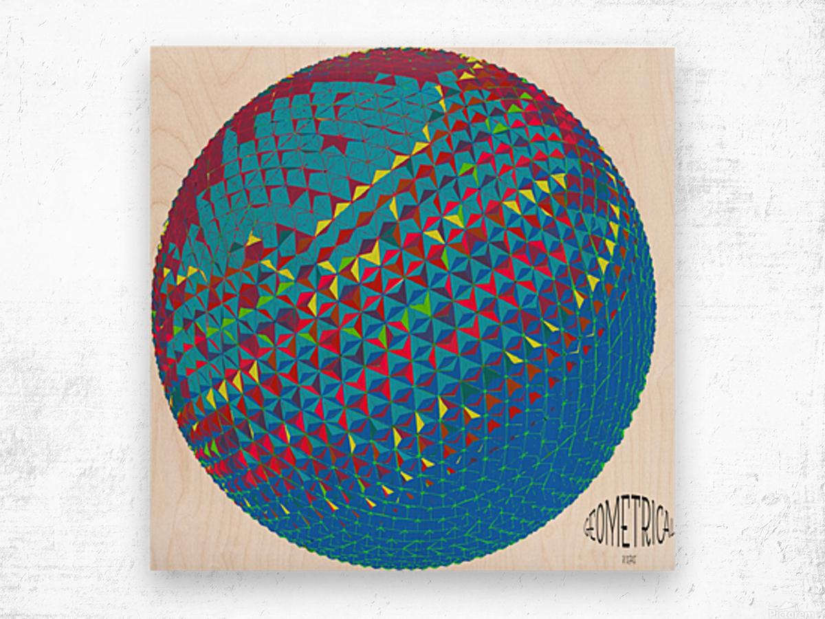 geometrical Wood print
