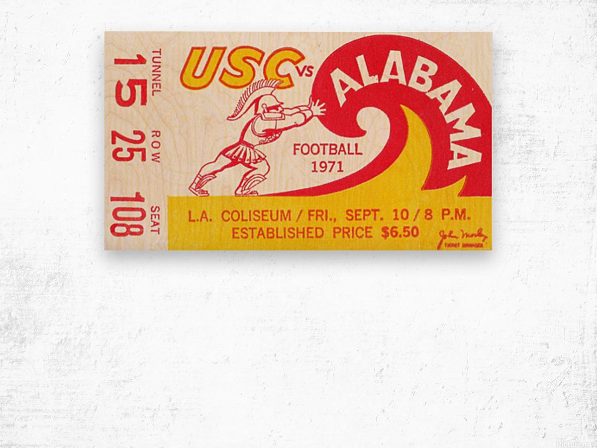 1971 Alabama vs. USC Wood print