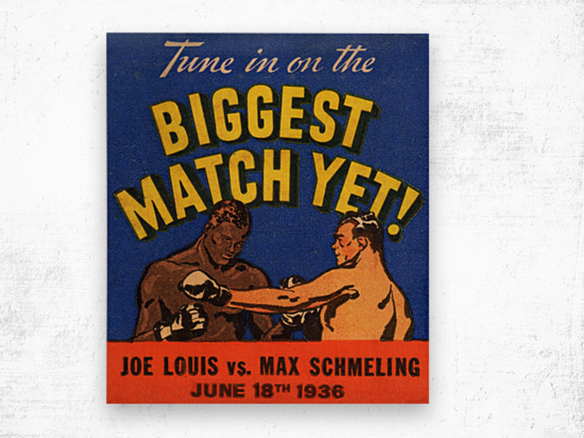1936 Biggest Match Yet Wood print