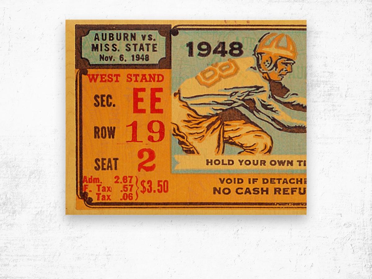 1948 Auburn vs. Mississippi State Wood print