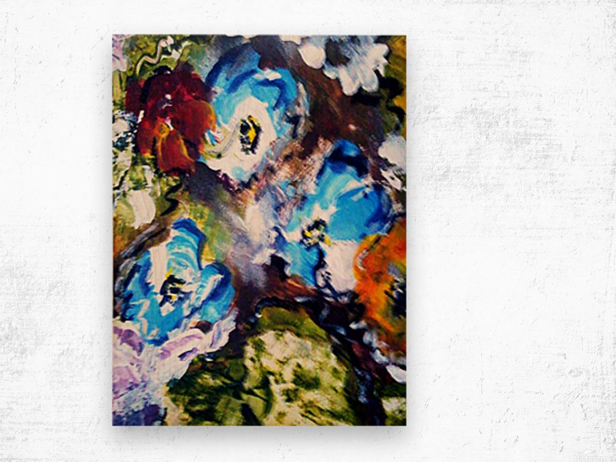 Primary Blue1 Wood print