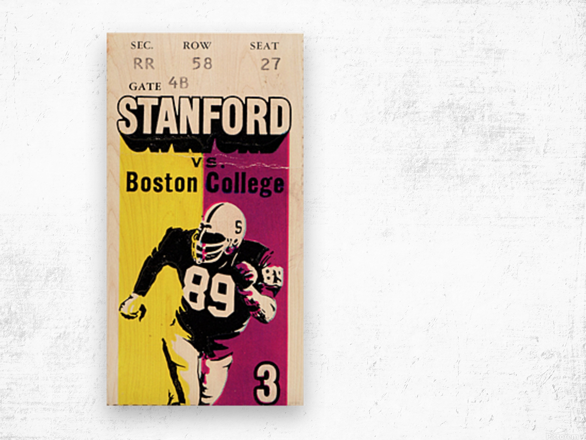 1979_College_Football_Boston College vs. Stanford_Palo Alto_Row One Brand College Art Wood print