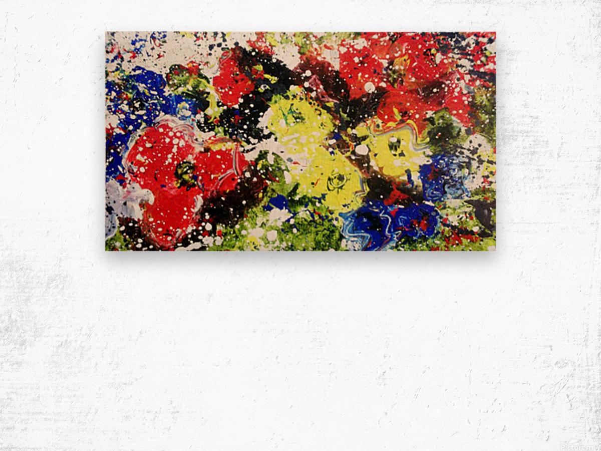 Primary Blossom Wood print