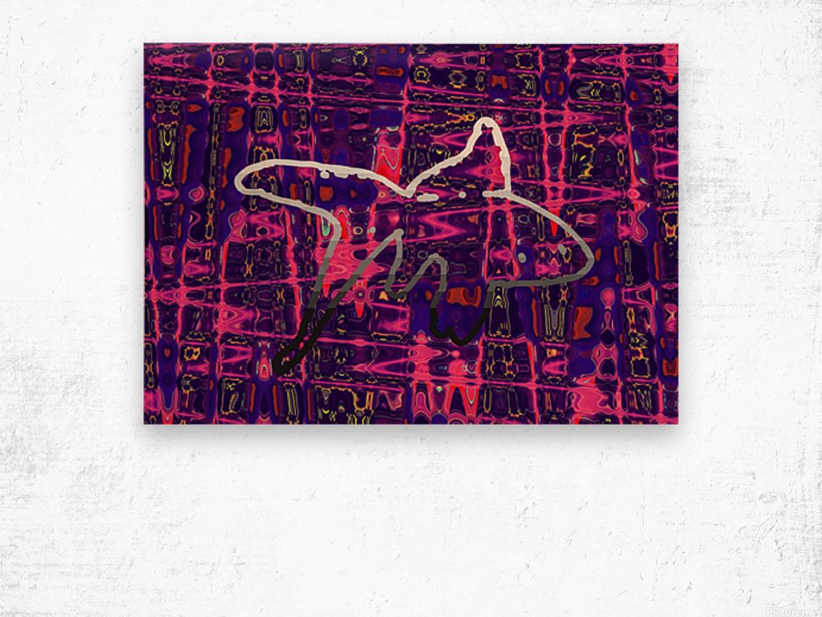 Abstract Fish Wood print
