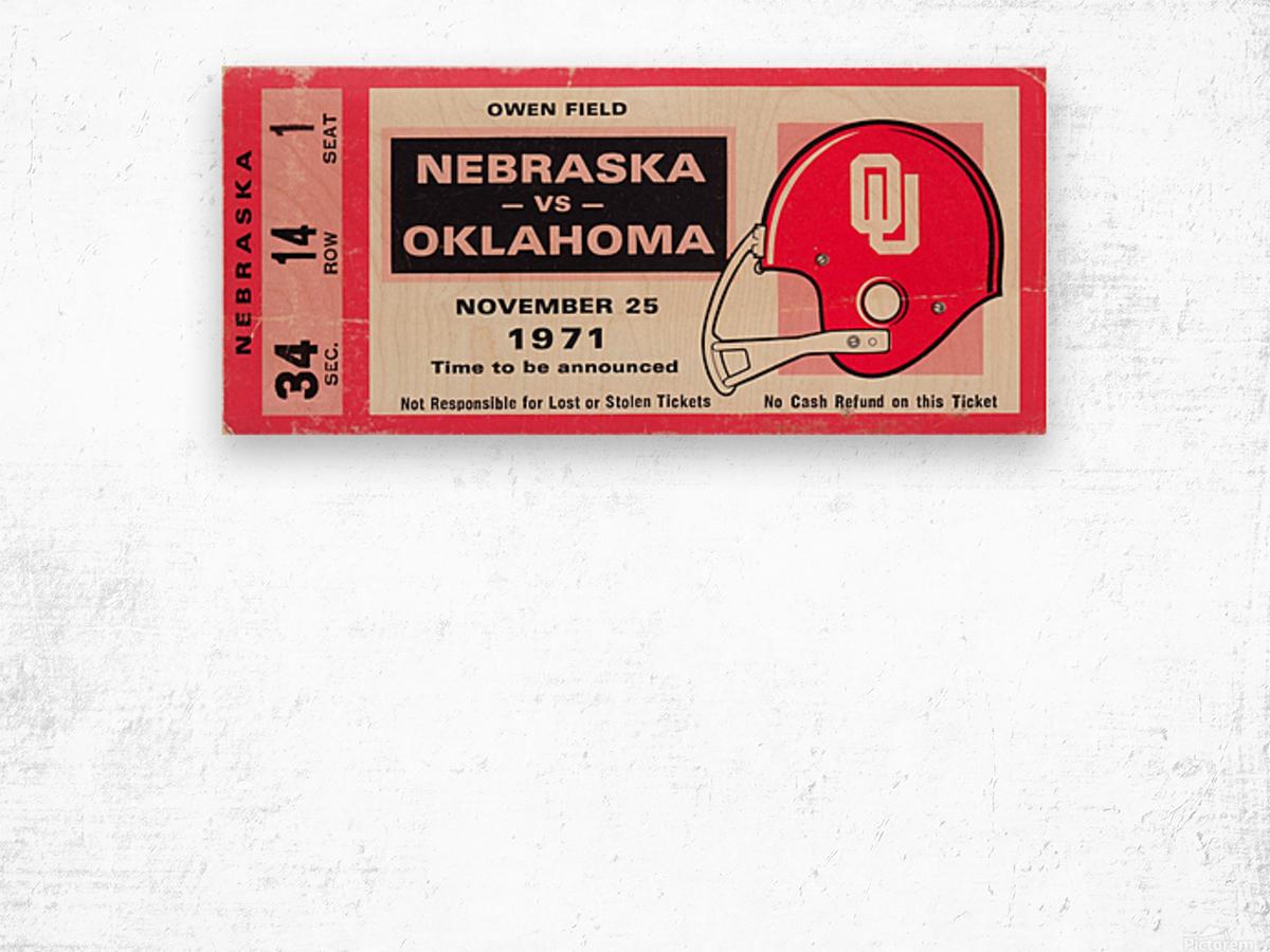 1971 Game of the Century Nebraska vs. Oklahoma Wood print