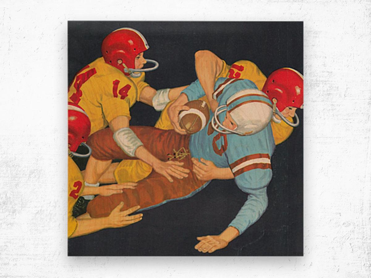 Classic Vintage Football Art  Wood print