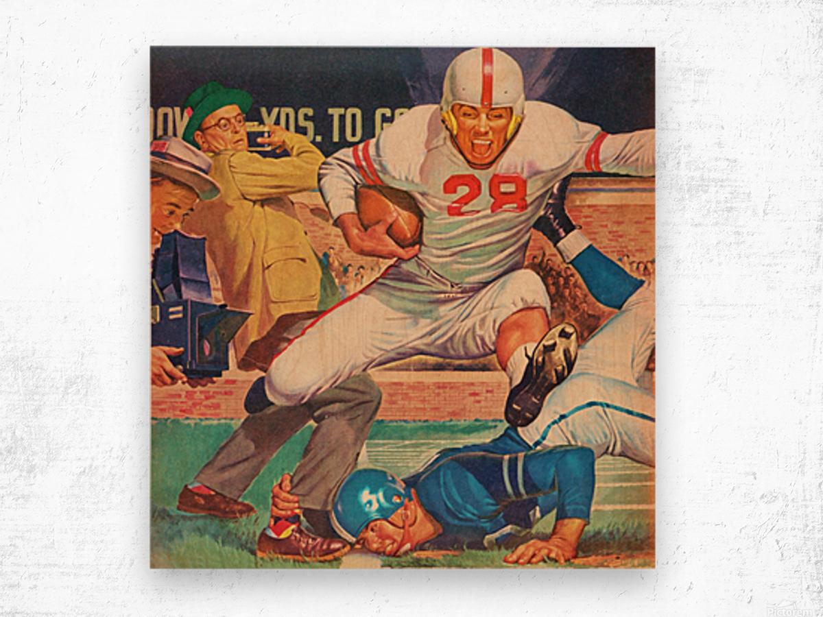 Vintage Football Art Wood print