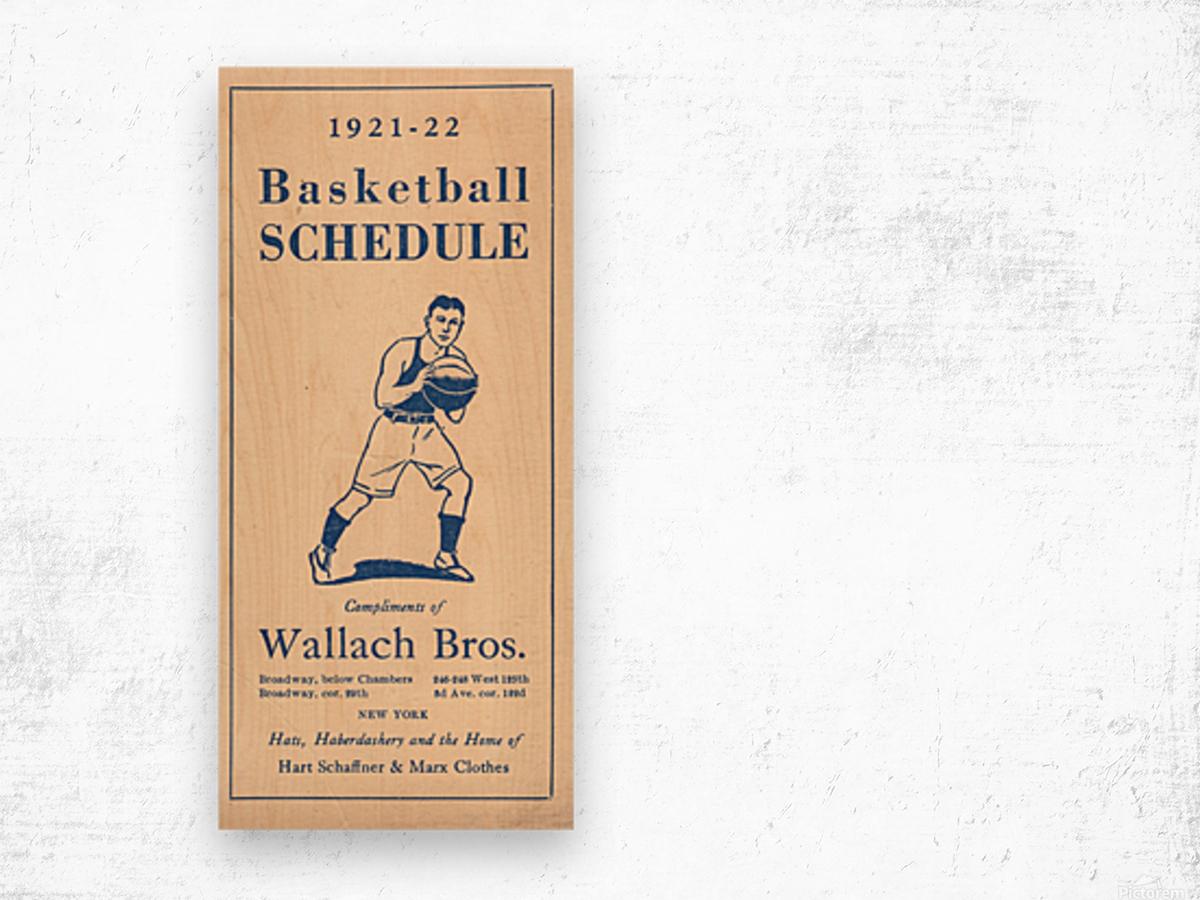 1921 Basketball Wood print