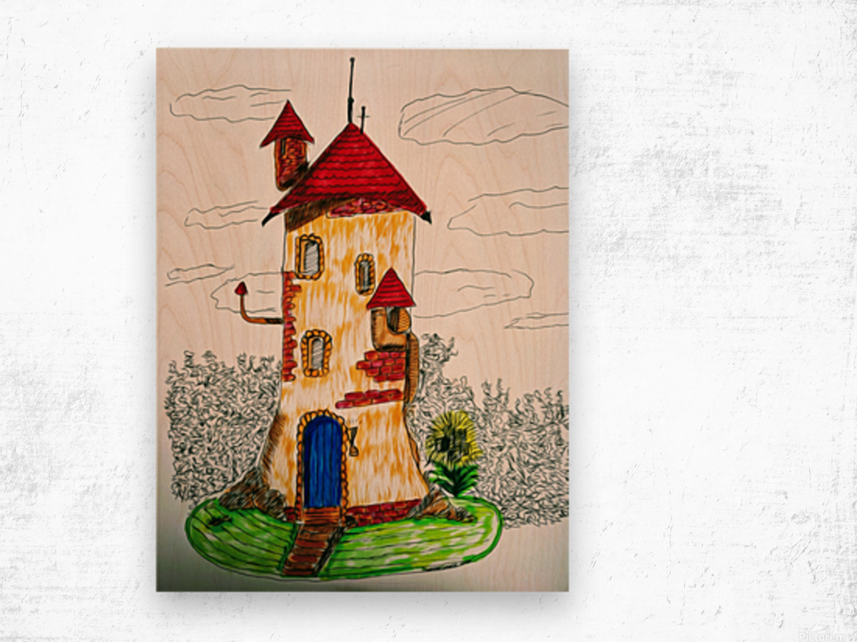 Wizard Tower Wood print