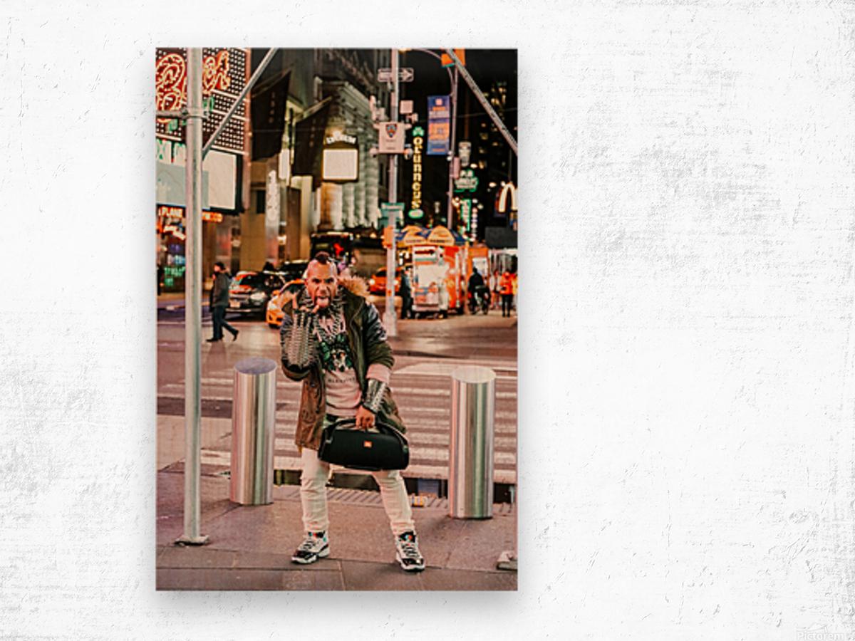 Punk Rock Wood print